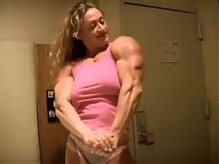 Fbb muscle flexing nude