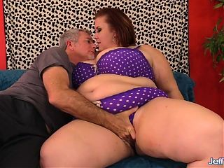 Mature Plumper Lady Lynn Is Worshiped and Pummeled Hard