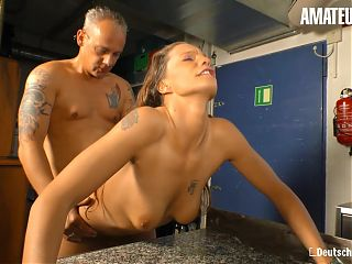 AMATEUR EURO - Hot Amateur Kitchen Sex With Kinky Germans