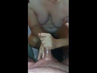 Chubby mild handjob
