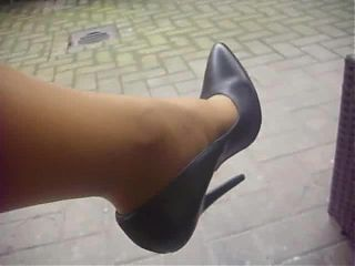 Black extrem Leather High Heels Pumps