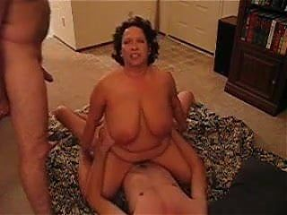 Big Boobed wife gets fucked by young guy