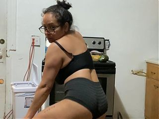 Anna Maria, mature Latina sexy Dominican MILF in black part 3