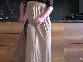 Pantyhose and masturbation
