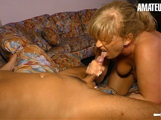 AMATEUREURO - Chubby German Housewife Cheats With Agent