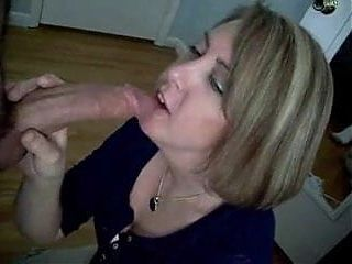Perfect blowjob and cum swallowing