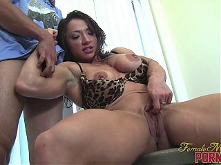 Hot Muscle Goddess BM Dominates Guy in the Kitchen