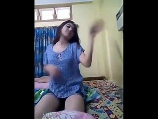 Cutest Indian desi is fingering herself for her bf